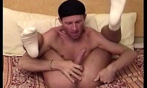 Staggering aunt queen sucks his own dick