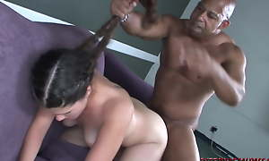 18yo Carmela Whimpers through this Entire Pussy Pounding