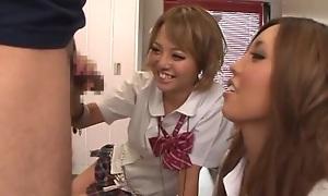 Rena Konishi nice Asian teen in school uniform fucks hard