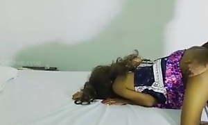 Sri Lankan girl sucking horseshit