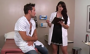 XXX dark haired falsify likes fucking her patients