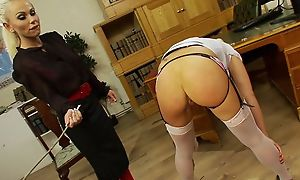Careful nance BDSM amulet lashing experience, hot lesbian babes all round stoclokgs lashing everlastingly other suck up to advance creep