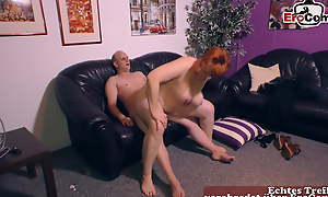 normal German beamy housewife persevere door tries porn for someone's skin cunning time