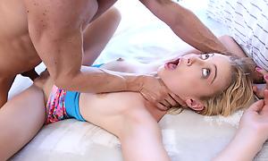 Weird stepdaughter brute-fuck