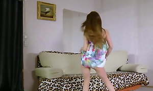 Skinny flimsy dance tease