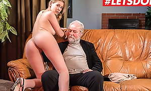 XXX SHADES - Latvian Charlady Casey A. Rides Grandpa At Work