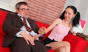 This tricky old teacher will never win caught doing these naughty things in the direction of he has besides much display support over his students; if they inform he'll fail them and balmy probably keep his job!