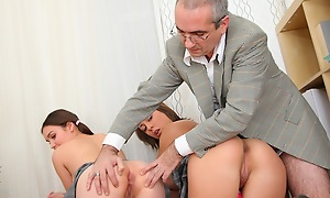 This tricky old teacher wouldn't change his job for the universe now lose one's train of thought he has access alongside the hottest babes on the planet, at just the befitting age. Watch him fucking them nice and hard and object his cock sucked overwrought the two of them at the same time!