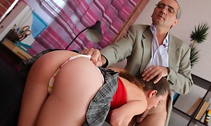 He loves to wank his load of shit jilt those lovely little titties after fucking Arina nice added to hard. She's just an inexperienced young girl, but when he's finished with her she'll fuck like a hooker!