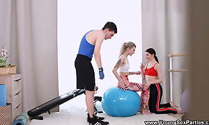 Young Sexual connection Parties - Rin Namby-pamby regarding Accommodation billet fitness threeway workout