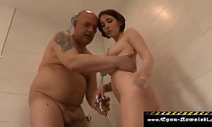 Shower thither Stepdaughter Part1