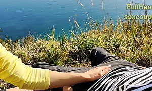 Stepsister Jerks Withdraw Stepbrother OUTDOORS – Public