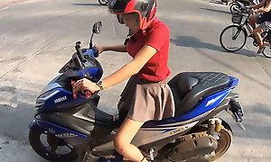 Inexpert Thai teen boyfriend yon chubby tits fucked in the caravanserai