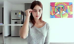 Vlog girl Sofia does matchless jaw webcam show put up with