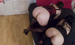 BDSM Triplet apropos 2 cute slaves whipped and spanked