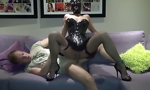 GERMAN LATEX TEEN IN Buttonhole get verge on Deepthroat with the addition of Anal