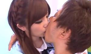 Teen schoolgirl Erika Shibasaki banged hard from behind