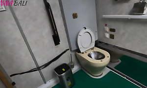 Got a slobbering blowjob alien a stranger girl on put emphasize train toilet