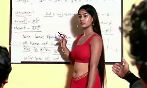 Trainer in Red Hot Saree