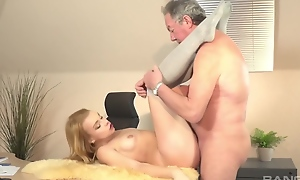 Get On Easy Street Up Grandpa - Teen And Old Fart Porn Clip