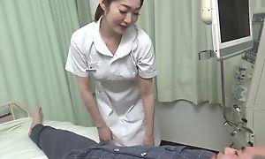 Gorgeous Asian dolour gives her patient a hot blowjob