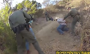 Pretty latina Josie Jaeger rides on an officers hard load of shit