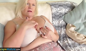 Leader granny Lacey has wet cunt by EuropeMature