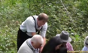 sinful outdoor groupsex bukkake orgy